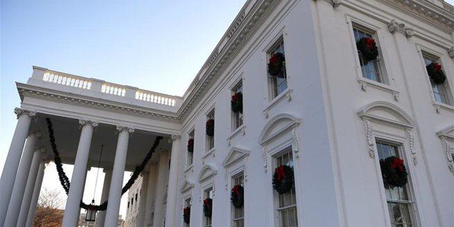 白宮新裝迎聖誕