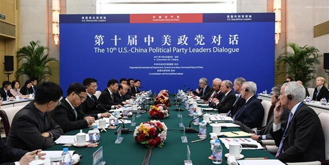 第十屆中美政黨對話在北京舉行