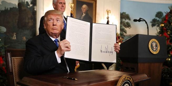 特朗普承認耶路撒冷為以色列首都