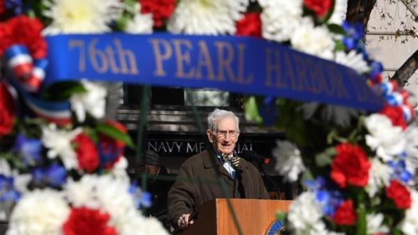 美國華盛頓紀念珍珠港事件76周年