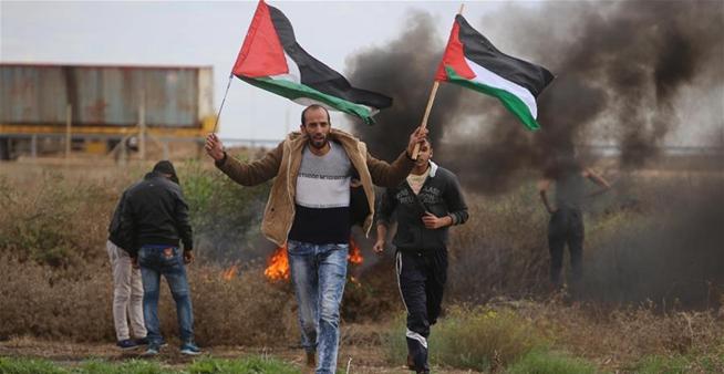 巴勒斯坦民眾抗議美國承認耶路撒冷為以色列首都