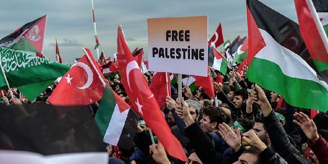 憤怒的海洋!土耳其民眾遊行抗議美國承認耶路撒冷為以色列首都