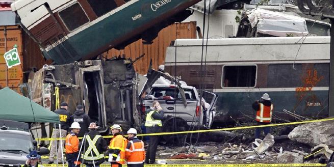 美華盛頓州一火車脫軌 已宣布進入緊急狀態