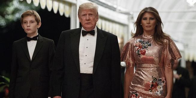 美總統特朗普舉辦新年晚宴