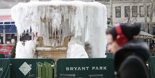 美國遭遇嚴寒天氣冷到破紀錄 東海岸地區將迎大范圍降雪