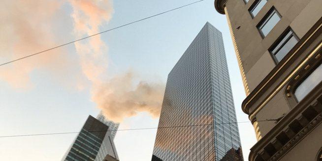 紐約特朗普大廈發生火災 現場濃煙滾滾