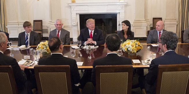 特朗普邀聯合國安理會代表赴宴