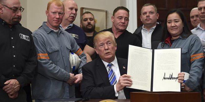 美國宣布對進口鋼鐵和鋁産品徵收高關稅
