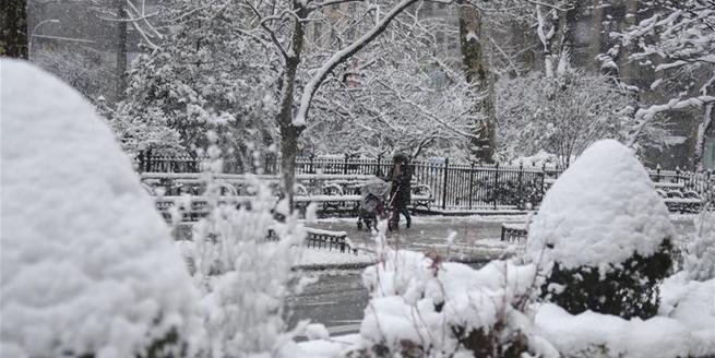 紐約再次遭遇暴風雪天氣