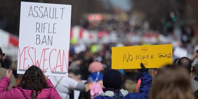 全美數百個城鎮舉行遊行呼吁控槍