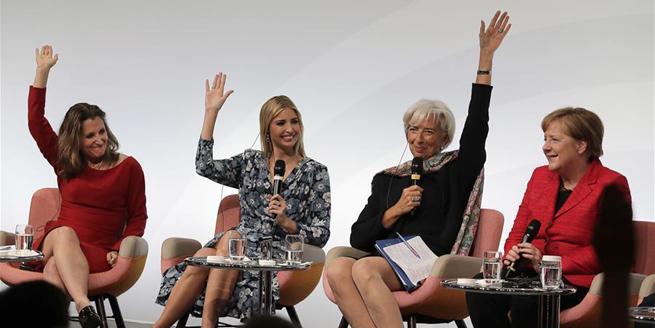 柏林G20婦女峰會討論促進婦女經濟地位等問題 伊萬卡出席峰會