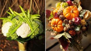 歐美婚禮新趨勢:新娘捧花流行捧蔬菜