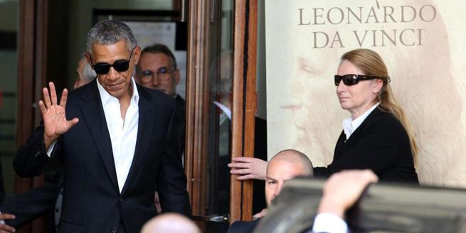 奧巴馬現身意大利米蘭 獲民眾夾道歡迎人氣高
